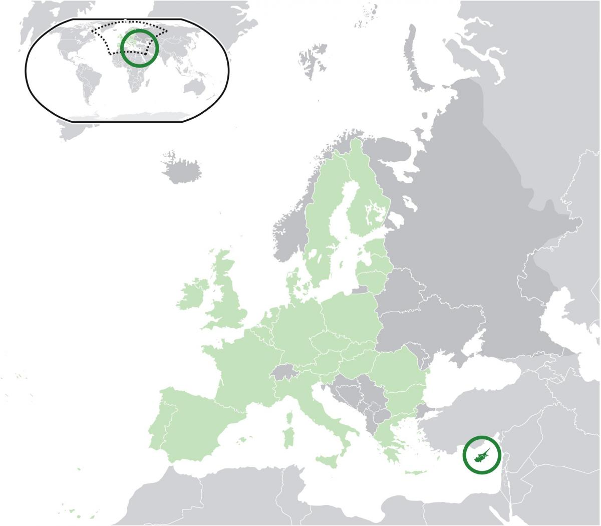 map of europe showing Cyprus