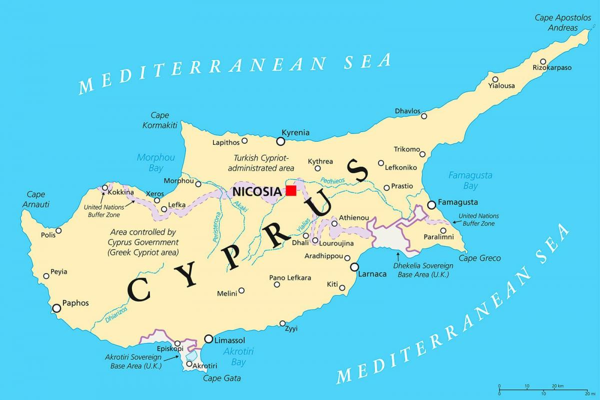 map showing Cyprus