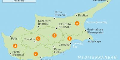Map of Cyprus country