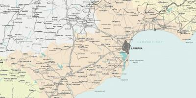 Map of larnaca Cyprus