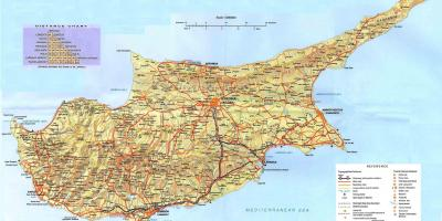 Map of Cyprus holiday resorts